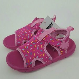 Cat & Jack Girls Pink Sprinkle Sport Water Sandals